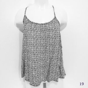 Old Navy Black & White Cross Back Tank Cami NWT